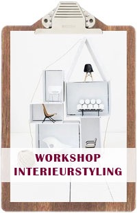 Klembord met tekst workshop interieurstyling